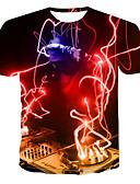 Χαμηλού Κόστους Ανδρικά μπλουζάκια και φανελάκια-Ανδρικά T-shirt 3D Ουράνιο Τόξο