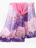 ราคาถูก เสื้อยืดสำหรับสุภาพสตรี-สำหรับผู้หญิง ลายดอกไม้ ซึ่งทำงานอยู่ / พื้นฐาน / สไตล์น่ารัก - ผ้าพันคอสี่เหลี่ยมผืนผ้า
