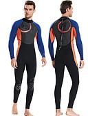 ราคาถูก ชุดดำน้ำ-Dive&Sail สำหรับผู้ชาย Wetsuits เต็ม 1.5มม. CR Neoprene ชุดดำน้ำ ออกแบบตามสรีระ แขนยาว ซิปหลัง ลายต่อ ฤดูใบไม้ร่วง ฤดูใบไม้ผลิ ฤดูหนาว / ความยืดหยุ่นสูง