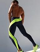 billiga Löparkläder-Herr Tights för jogging Kompressionsbyxor Lappverk Elastan sporter Kompressionskläder Cykling Tights Löpning Fitness Gym träning Träning Andningsfunktion Snabb tork Svettavvisande Färgblock Grön Blå