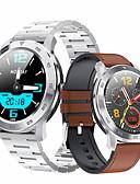 baratos Smart watch-Relógio inteligente Digital Estilo Moderno Esportivo Couro PU 30 m Impermeável Monitor de Batimento Cardíaco Bluetooth Digital Casual Ao ar Livre - Preto Marron Preto / cinza