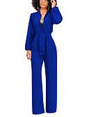 abordables Combinaisons Femme-Femme Noir Blanche Bleu Roi Combinaison-pantalon, Couleur Pleine S M L