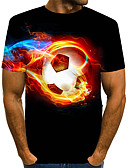 baratos Camisetas & Regatas Masculinas-Homens Camiseta 3D / Animal Preto