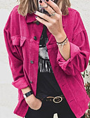 cheap Women's Blouses-Women's Daily Shirt - Solid Colored Wine