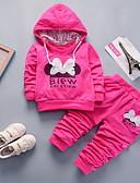 ราคาถูก เสื้อผ้าสำหรับเด็กทารกผู้หญิง-ทารก เด็กผู้หญิง Street Chic ลายพิมพ์ แขนยาว ปกติ ชุดเสื้อผ้า สีบานเย็น