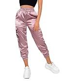 baratos Calças Femininas-Mulheres Básico Calças Esportivas Calças - Sólido Rosa S M L