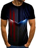 baratos Camisas Masculinas-Homens Camiseta 3D Preto