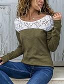 baratos Camisetas Femininas-Mulheres Camiseta Estampa Colorida Preto