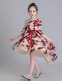 billige Pikekjoler-Barn Jente Geometrisk Kjole Rød