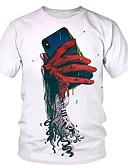 Χαμηλού Κόστους Βίντατζ Βασίλισσα-Ανδρικά T-shirt Πανκ & Γκόθικ / Εξωγκωμένος Συνδυασμός Χρωμάτων Στάμπα Λευκό