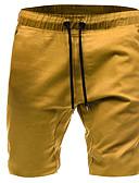 baratos Camisetas & Regatas Masculinas-Homens Moda de Rua Chinos / Shorts Calças - Sólido Preto Verde Tropa Cinzento US32 / UK32 / EU40 US34 / UK34 / EU42 US36 / UK36 / EU44