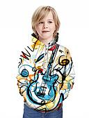 Χαμηλού Κόστους Αντρικές Μπλούζες με Κουκούλα & Φούτερ-Παιδιά Αγορίστικα Ενεργό Κομψό στυλ street Γεωμετρικό 3D Patchwork Στάμπα Μακρυμάνικο Μπλούζα με Κουκούλα & Φούτερ Ουράνιο Τόξο