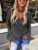 cheap Women's Shirts-Women's Daily T-shirt - Solid Colored Black