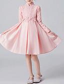 baratos Vestidos para Meninas-Infantil Para Meninas Sólido Vestido Branco