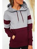 olcso Női kapucnis felsők és pulóverek-Női Alap Kapucnis felsőrész Színes