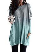 Χαμηλού Κόστους T-shirt-Γυναικεία T-shirt Συνδυασμός Χρωμάτων Βυσσινί