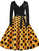 olcso Festival Dresses-Női Parti Alap A-vonalú Ruha Egyszínű Térd feletti V-alakú
