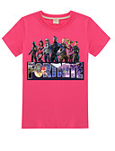 baratos Camisas para Meninos-Bébé Para Meninos Básico Geométrica Manga Curta Camiseta Azul