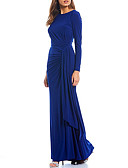 olcso Estélyi ruhák-Szűk szabású Ékszer Földig érő Spandex Örömanya ruha val vel Ráncolt által LAN TING Express