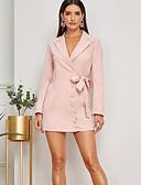 olcso Női ruhák-Női Ízléses Elegáns Bodycon Ruha - Fűzős, Egyszínű Mini