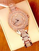 povoljno Kvarcni satovi-Žene Luxury Watches Ručni satovi s mehanizmom za navijanje Diamond Watch Japanski Nehrđajući čelik Srebro / Zlatna 30 m Analog dame Bling Bling - Rose Gold Zlato Srebro