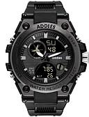 ราคาถูก นาฬิกาดิจิทัล-สำหรับผู้ชาย นาฬิกาดิจิตอล ดิจิตอล กีฬา ดำ 30 m กันน้ำ ปฏิทิน วันที่ อะนาล็อก-ดิจิตอล แฟชั่น - สีดำ สีดำและสีขาว หนึ่งปี อายุการใช้งานแบตเตอรี่