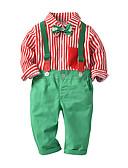 povoljno Kvarcni satovi-Djeca Dijete koje je tek prohodalo Dječaci Osnovni Ulični šik Božić Festival Djed Mraz Prugasti uzorak Mašna Dugih rukava Regularna Normalne dužine Komplet odjeće Red