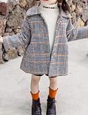 olcso Lány dzsekik és kabátok-Kisgyermek Lány Alap Kockás Hosszú ujj Zakó és dzseki Bor
