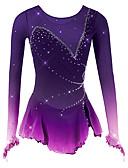 Χαμηλού Κόστους Φόρεμα για παγοδρομία-Φόρεμα για φιγούρες πατινάζ Γυναικεία Κοριτσίστικα Patinaj Φορέματα Μαύρο Λευκό Βυσσινί Spandex Δίχτυ Υψηλή Ελαστικότητα Ανταγωνισμός Ενδυμασία πατινάζ Αναπνέει Χειροποίητο Νεωτερισμός Μοντέρνα Dumb