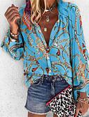 baratos Camisas Femininas-Mulheres Camisa Social Tribal Colarinho de Camisa Solto Roxo