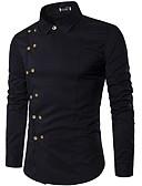 billige Herreskjorter-Skjorte Herre - Ensfarget Svart