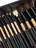 billige Sminkebørstesett-Profesjonell Makeup børster Børstesett 24pcs Økovennlig Profesjonell Myk Full Dekning syntetisk Syntetisk hår Tre Sminkebørster til