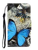 baratos Capinhas para Xiaomi-Capinha Para Xiaomi Nota do Redmi 7 / Redmi Note 7 Pro / Redmi 7A Carteira / Com Suporte / Flip Capa Proteção Completa Borboleta PU Leather