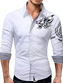 povoljno Muške košulje-Majica Muškarci Dnevno Geometrijski oblici Crn / Dugih rukava