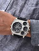 ราคาถูก นาฬิกาข้อมือหรูหรา-Oulm สำหรับผู้ชาย นาฬิกาทหาร นาฬิกาข้อมือ สายการบิน นาฬิกาอิเล็กทรอนิกส์ (Quartz) นาฬิกาควอตซ์ญี่ปุ่น ที่มีขนาดใหญ่ หนัง ดำ / น้ำตาล เครื่องวัดอุณหภูมิ แสดงสองเวลา เท่ห์ ระบบอนาล็อก สีดำ สีน้ำตาล