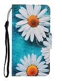 baratos Capinhas para Xiaomi-Capinha Para Xiaomi Nota do Redmi 7 / Redmi Note 7 Pro / Redmi 7A Carteira / Com Suporte / Flip Capa Proteção Completa Flor PU Leather