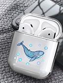 Χαμηλού Κόστους Περιπτώσεις AirPods-θήκη για airpods μήλο διαφανές κάλυμμα ακουστικών δημιουργική εικόνα καρτούν σχέδιο