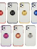 baratos Cases & Capas-Capinha Para Apple iPhone 11 / iPhone 11 Pro / iPhone 11 Pro Max Suporte para Alianças Capa traseira Sólido TPU