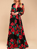 olcso Női ruhák-Női Swing Ruha Virágos Maxi