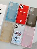 Χαμηλού Κόστους Θήκες iPhone-tok Για Apple iPhone 11 / iPhone 11 Pro / iPhone 11 Pro Max Θήκη καρτών / Ανθεκτική σε πτώσεις / Ημιδιαφανές Πίσω Κάλυμμα Μονόχρωμο TPU