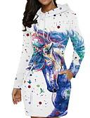 olcso Női ruhák-Női Elegáns Egyenes Ruha Állat Mini