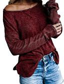 olcso Női pulóverek-Női Póló - Egyszínű Fekete