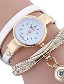 baratos Relógios-Mulheres Colar com Relógio Quartzo Couro Adorável Analógico Casual - Preto Verde Branco