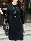 olcso Print Dresses-Női Alap A-vonalú Ruha Egyszínű Térd feletti