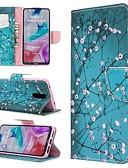 baratos Capinhas para Xiaomi-Capinha Para Xiaomi Xiaomi Redmi 7 / Nota do Redmi 7 / Redmi K20 Carteira / Com Suporte / Flip Capa Proteção Completa Flor PU Leather