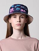 olcso Női kalapok-Női Virágminta Poliészter,Alap-Szalmakalap Fekete
