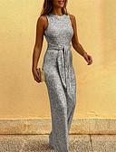 povoljno Ženski dvodijelni kostimi-Žene Crn Zlato Srebro Jumpsuits, Jednobojni S M L