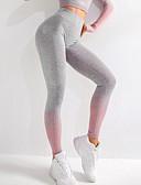 baratos Calças Femininas-Mulheres Básico Legging - Estampa Colorida, Estampado Cintura Média Rosa Laranja Cinzento S M L