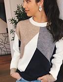 billige Gensere til damer-Dame Fargeblokk Langermet Pullover Genserjumper Regnbue S / M / L