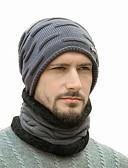 Χαμηλού Κόστους Men's Hats-Ανδρικά Φλοράλ Βασικό Πολυεστέρας Καπέλο σκι Μαύρο Βαθυγάλαζο Γκρίζο